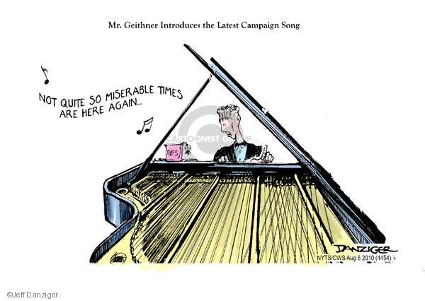 Cartoonist Jeff Danziger  Jeff Danziger's Editorial Cartoons 2010-08-08 election day