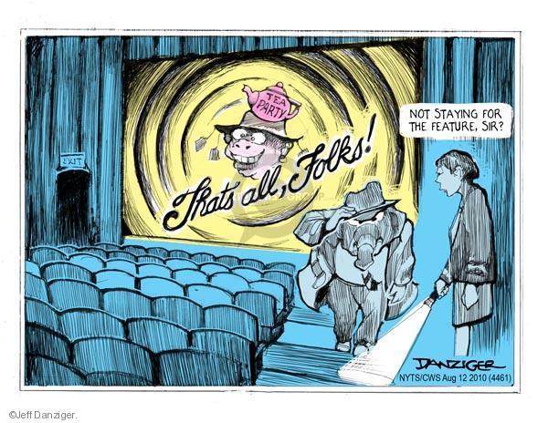 Cartoonist Jeff Danziger  Jeff Danziger's Editorial Cartoons 2010-08-12 party loyalty