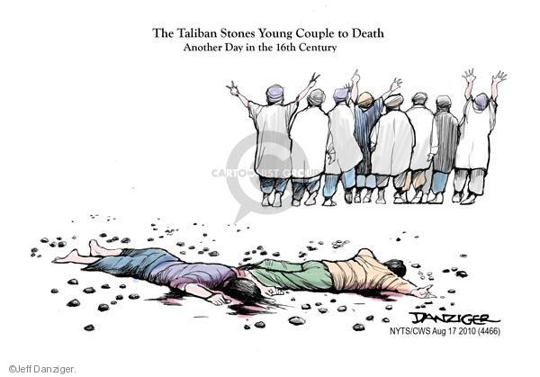 The Taliban stones young couple to death.  Another day in the 16th century.