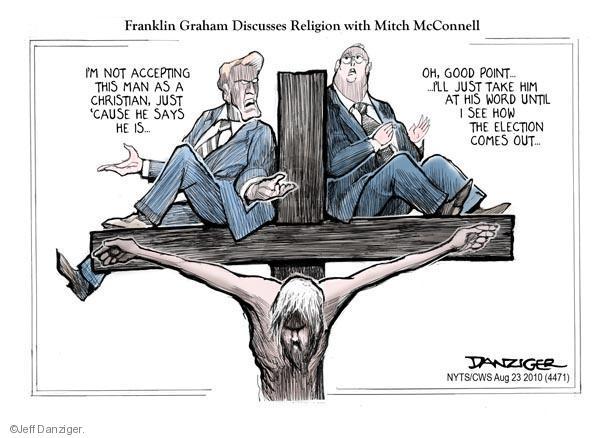 Cartoonist Jeff Danziger  Jeff Danziger's Editorial Cartoons 2010-08-23 religious leader