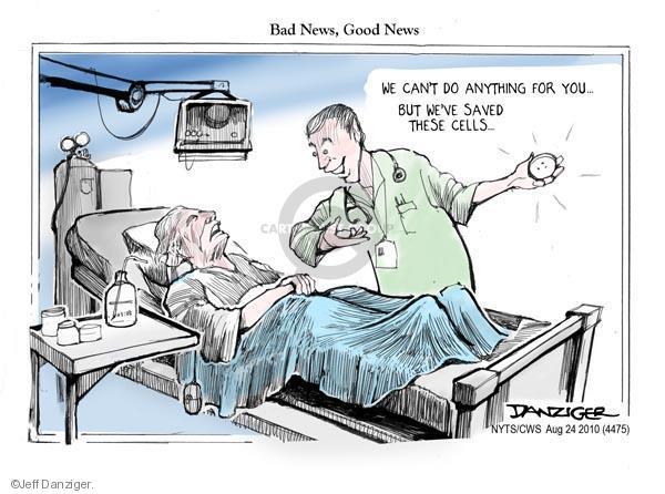 Jeff Danziger  Jeff Danziger's Editorial Cartoons 2010-08-24 good news