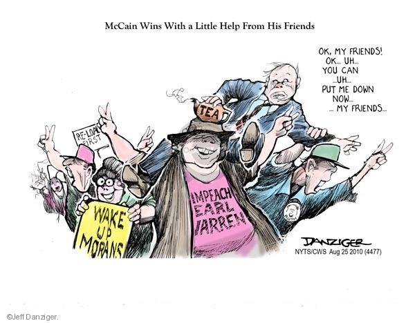 Cartoonist Jeff Danziger  Jeff Danziger's Editorial Cartoons 2010-08-25 party loyalty