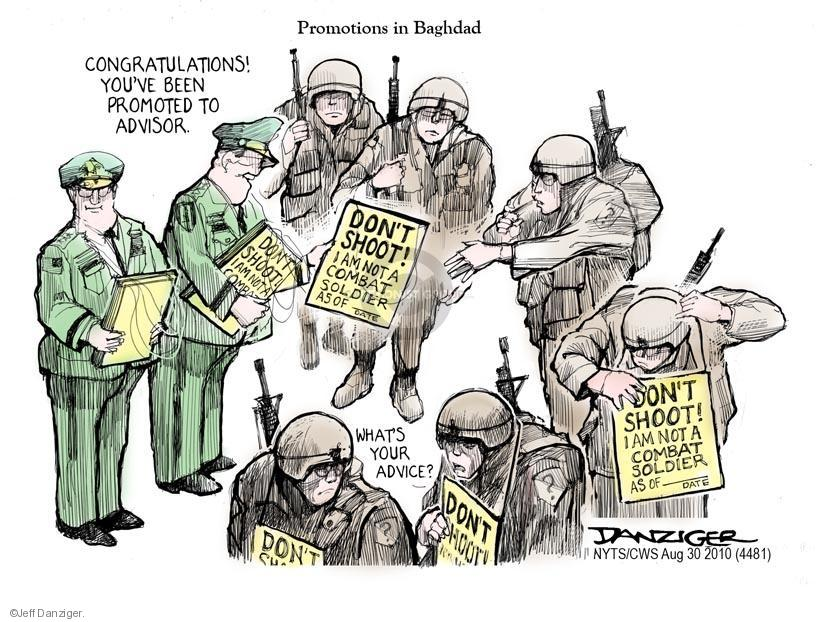 Jeff Danziger  Jeff Danziger's Editorial Cartoons 2010-08-30 armed forces