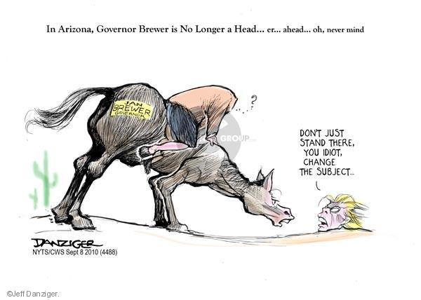 Cartoonist Jeff Danziger  Jeff Danziger's Editorial Cartoons 2010-09-08 Arizona