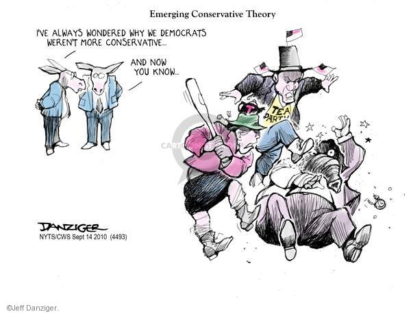 Cartoonist Jeff Danziger  Jeff Danziger's Editorial Cartoons 2010-09-14 party loyalty