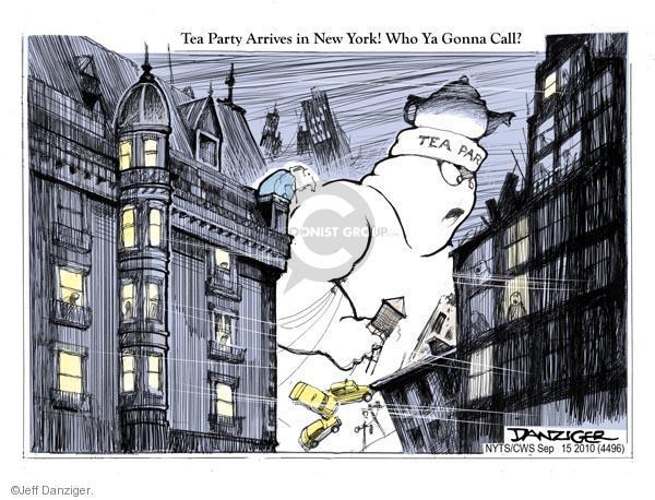 Cartoonist Jeff Danziger  Jeff Danziger's Editorial Cartoons 2010-09-15 party loyalty