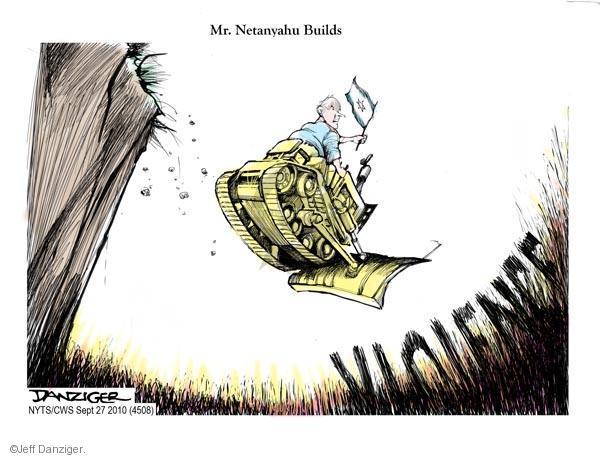 Cartoonist Jeff Danziger  Jeff Danziger's Editorial Cartoons 2010-09-27 Israel