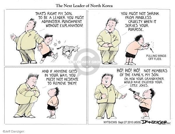 Cartoonist Jeff Danziger  Jeff Danziger's Editorial Cartoons 2010-09-27 leadership