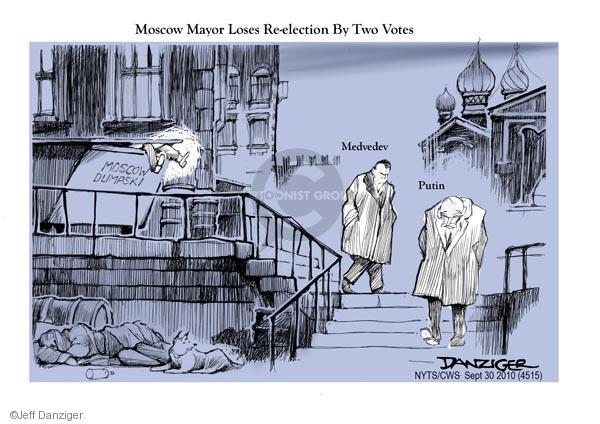 Jeff Danziger  Jeff Danziger's Editorial Cartoons 2010-09-30 Dmitry Medvedev