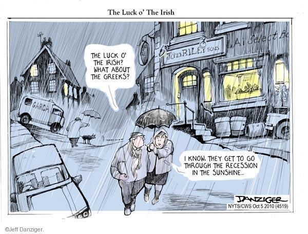 Cartoonist Jeff Danziger  Jeff Danziger's Editorial Cartoons 2010-10-05 recession