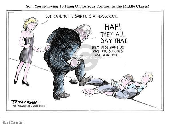 Cartoonist Jeff Danziger  Jeff Danziger's Editorial Cartoons 2010-10-07 party loyalty