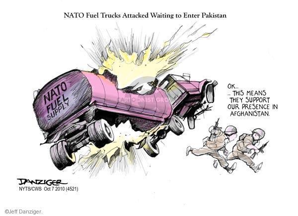 Cartoonist Jeff Danziger  Jeff Danziger's Editorial Cartoons 2010-10-07 NATO