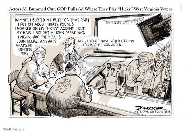 Cartoonist Jeff Danziger  Jeff Danziger's Editorial Cartoons 2010-10-08 campaign hat