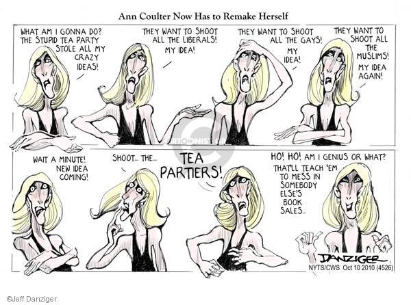 Cartoonist Jeff Danziger  Jeff Danziger's Editorial Cartoons 2010-10-10 party loyalty