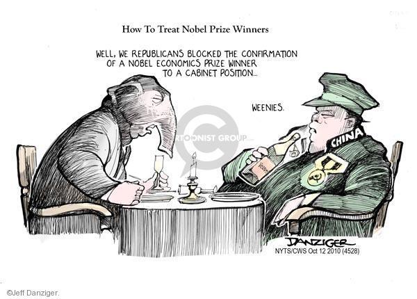 Jeff Danziger  Jeff Danziger's Editorial Cartoons 2010-10-12 China human rights