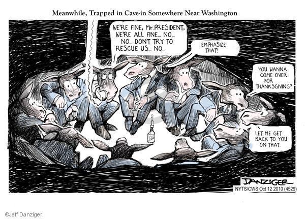 Cartoonist Jeff Danziger  Jeff Danziger's Editorial Cartoons 2010-10-12 partisanship