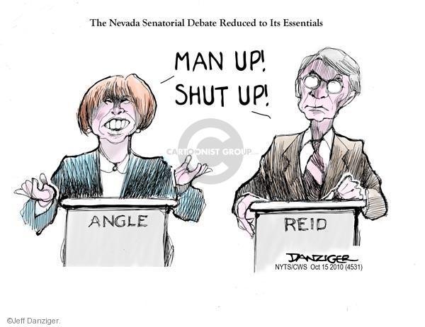 Cartoonist Jeff Danziger  Jeff Danziger's Editorial Cartoons 2010-10-15 senate majority leader