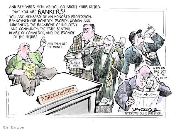 Jeff Danziger  Jeff Danziger's Editorial Cartoons 2010-10-18 foreclosure