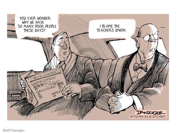 Jeff Danziger  Jeff Danziger's Editorial Cartoons 2010-10-28 foreclosure