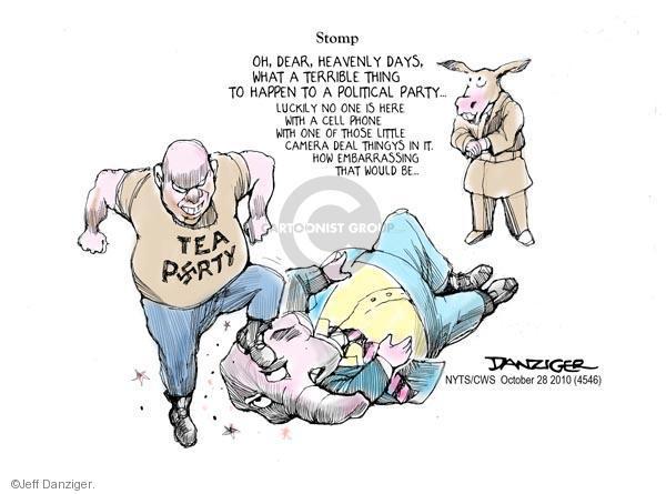 Cartoonist Jeff Danziger  Jeff Danziger's Editorial Cartoons 2010-10-28 party loyalty
