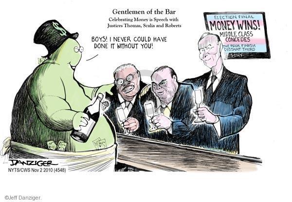 Jeff Danziger  Jeff Danziger's Editorial Cartoons 2010-11-01 John Roberts
