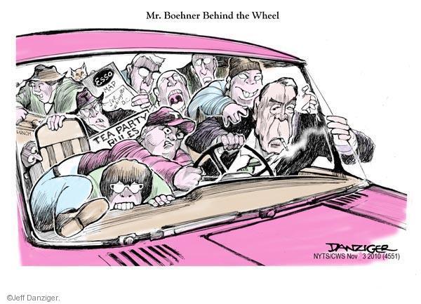 Cartoonist Jeff Danziger  Jeff Danziger's Editorial Cartoons 2010-11-03 party loyalty