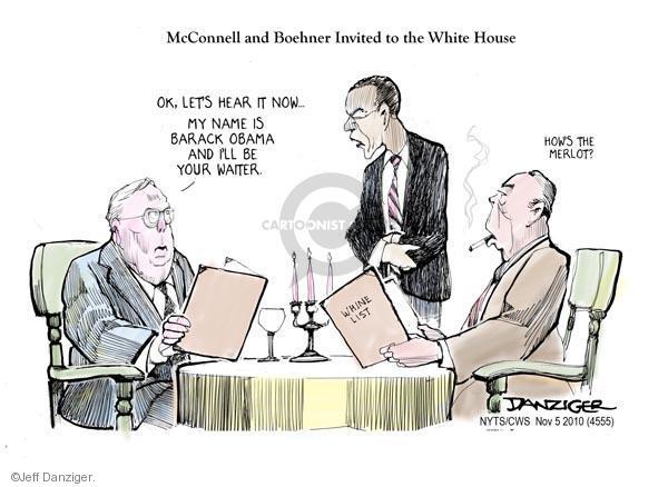 Cartoonist Jeff Danziger  Jeff Danziger's Editorial Cartoons 2010-11-05 White House