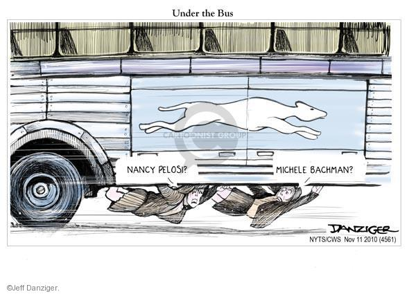Cartoonist Jeff Danziger  Jeff Danziger's Editorial Cartoons 2010-11-11 Nancy