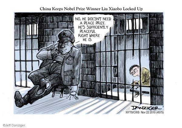 Cartoonist Jeff Danziger  Jeff Danziger's Editorial Cartoons 2010-11-22 guard