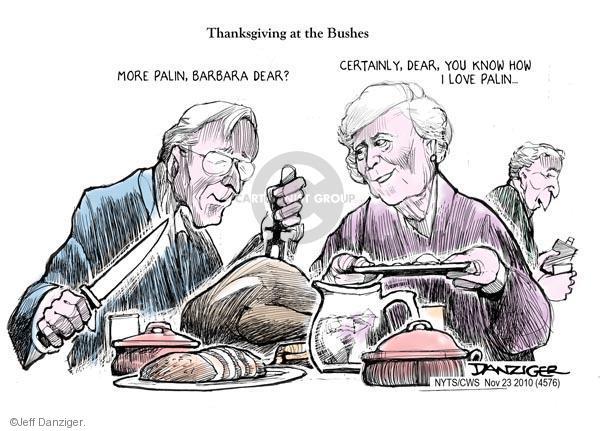 Cartoonist Jeff Danziger  Jeff Danziger's Editorial Cartoons 2010-11-23 Thanksgiving turkey
