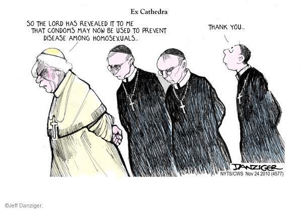 Cartoonist Jeff Danziger  Jeff Danziger's Editorial Cartoons 2010-11-24 pope