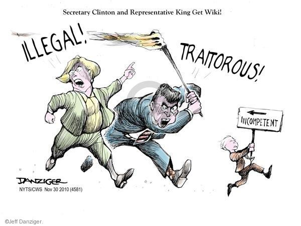 Cartoonist Jeff Danziger  Jeff Danziger's Editorial Cartoons 2010-11-30 international relations