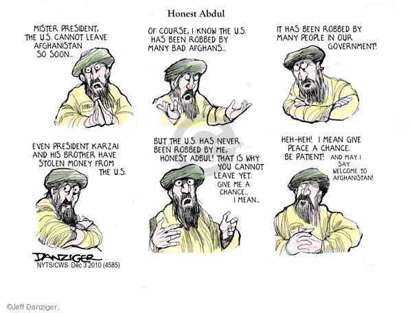 Cartoonist Jeff Danziger  Jeff Danziger's Editorial Cartoons 2010-12-03 Mister