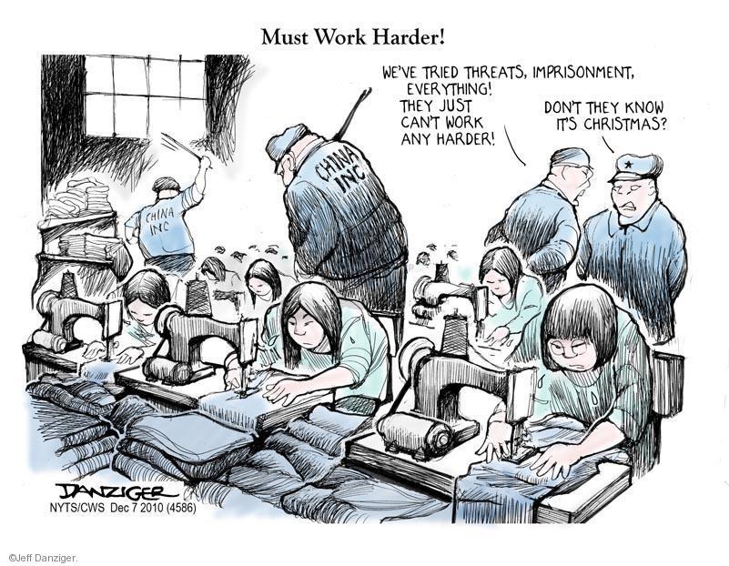 Jeff Danziger  Jeff Danziger's Editorial Cartoons 2010-12-07 factory worker