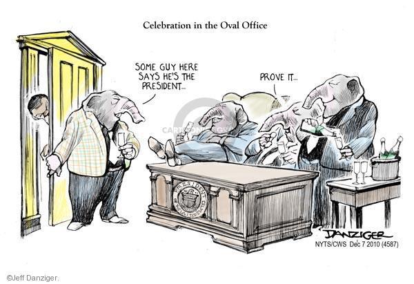 Cartoonist Jeff Danziger  Jeff Danziger's Editorial Cartoons 2010-12-07 Oval Office