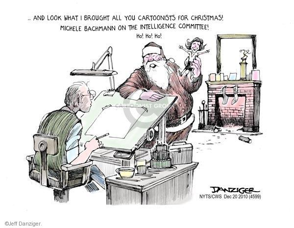 Cartoonist Jeff Danziger  Jeff Danziger's Editorial Cartoons 2010-12-20 Michele Bachmann