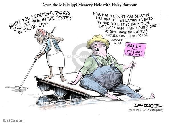 Cartoonist Jeff Danziger  Jeff Danziger's Editorial Cartoons 2010-12-21 Haley Barbour
