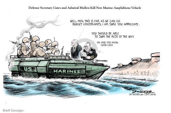 Cartoonist Jeff Danziger  Jeff Danziger's Editorial Cartoons 2011-01-07 chief of staff