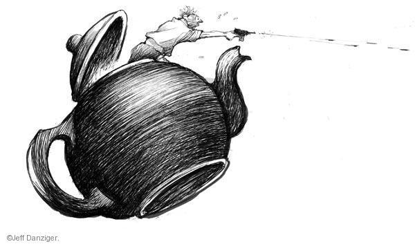 Cartoonist Jeff Danziger  Jeff Danziger's Editorial Cartoons 2011-01-10 party loyalty