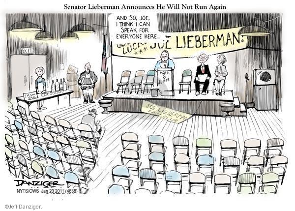 Cartoonist Jeff Danziger  Jeff Danziger's Editorial Cartoons 2011-01-20 retirement