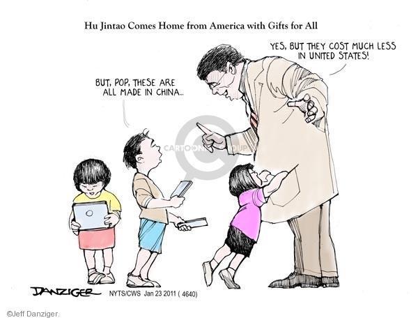 Cartoonist Jeff Danziger  Jeff Danziger's Editorial Cartoons 2011-01-23 made in China
