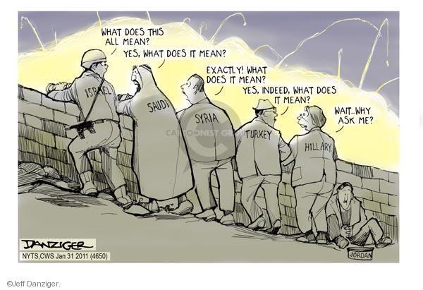 Cartoonist Jeff Danziger  Jeff Danziger's Editorial Cartoons 2011-01-31 Israel