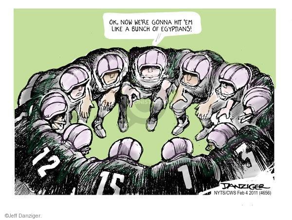 Cartoonist Jeff Danziger  Jeff Danziger's Editorial Cartoons 2011-02-04 football player