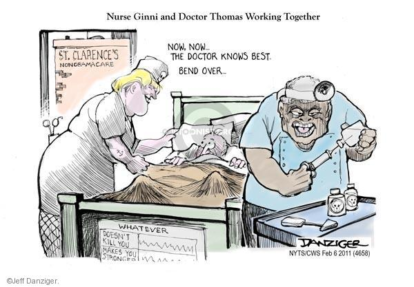 Cartoonist Jeff Danziger  Jeff Danziger's Editorial Cartoons 2011-02-06 hospital
