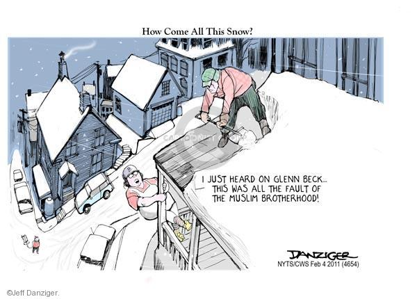 Cartoonist Jeff Danziger  Jeff Danziger's Editorial Cartoons 2011-02-04 Glenn