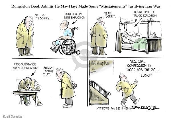 Cartoonist Jeff Danziger  Jeff Danziger's Editorial Cartoons 2011-02-08 hospital
