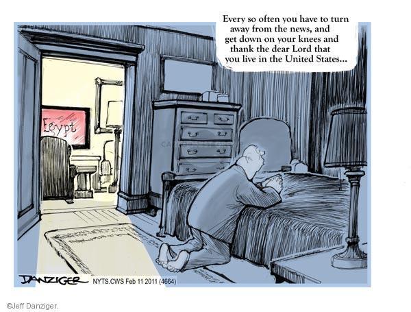 Cartoonist Jeff Danziger  Jeff Danziger's Editorial Cartoons 2011-02-11 United States