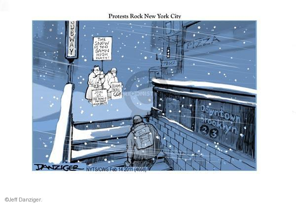 Cartoonist Jeff Danziger  Jeff Danziger's Editorial Cartoons 2011-02-14 party