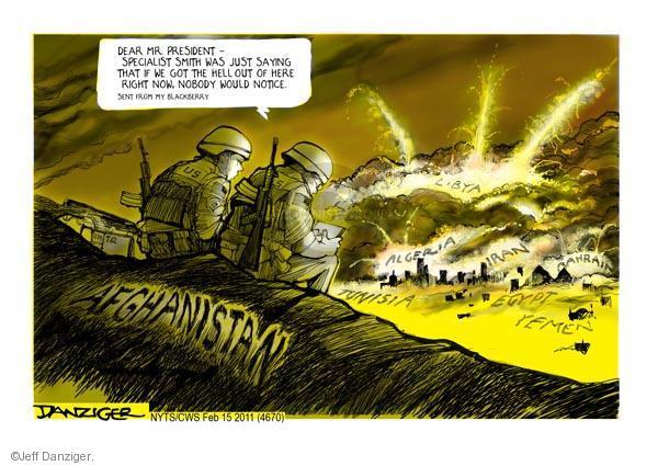 Cartoonist Jeff Danziger  Jeff Danziger's Editorial Cartoons 2011-02-15 United States