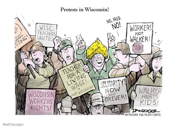 Cartoonist Jeff Danziger  Jeff Danziger's Editorial Cartoons 2011-02-18 walker